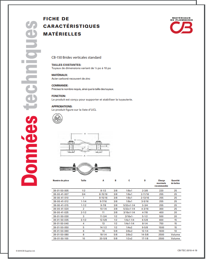 French TechData Sheet - CB150
