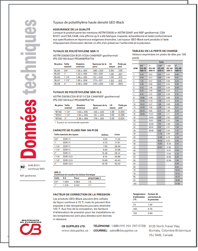 French TechData Sheet - GEO-Black