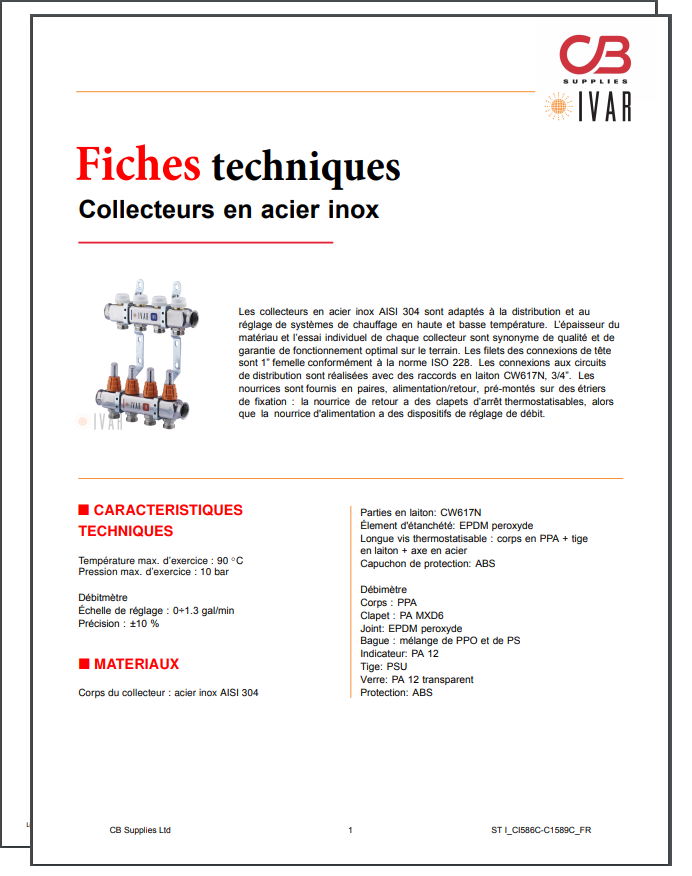 French TechData Sheet - IVAR(SS)